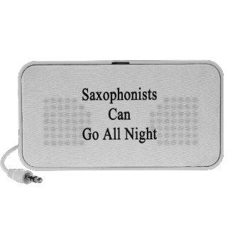Los saxofonistas pueden ir toda la noche