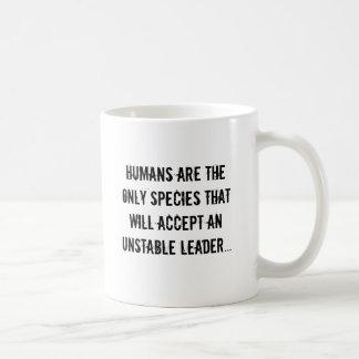 Los seres humanos son las únicas especies que taza de café