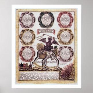 Los siete pecados mortales (grabado) poster