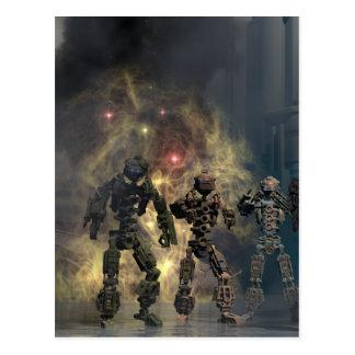 los siete robots gloriosos b postal