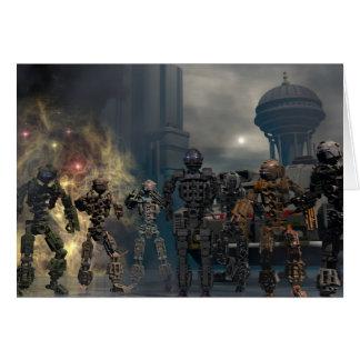 los siete robots gloriosos b tarjeta de felicitación
