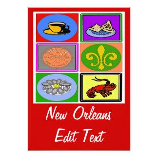 Los símbolos de New Orleans corrigen el texto