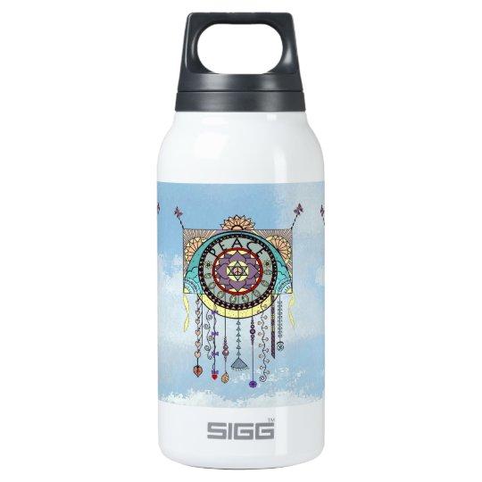Los símbolos de paz cuelgan la botella del arte