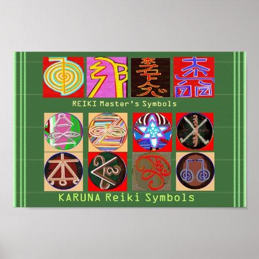 Los símbolos del amo curativo - papel superior impresiones