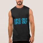 Los soles hacia fuera disparan contra hacia fuera camisetas sin mangas