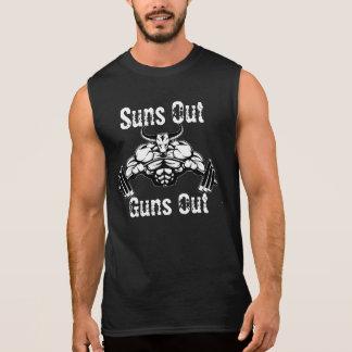 Los soles hacia fuera disparan contra hacia fuera camiseta sin mangas