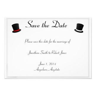 Los sombreros de copa y el boda gay de las pajarit comunicado personal