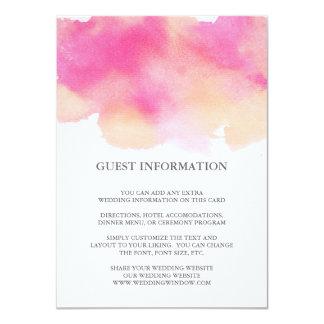Los sueños vibrantes que casan el parte movible invitación 11,4 x 15,8 cm
