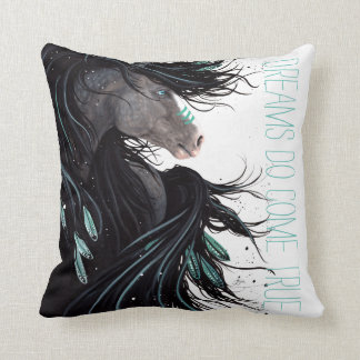 Cojín Decorativo Los sueños vienen almohada verdadera del caballo