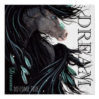 Los sueños vienen poster verdadero del caballo por