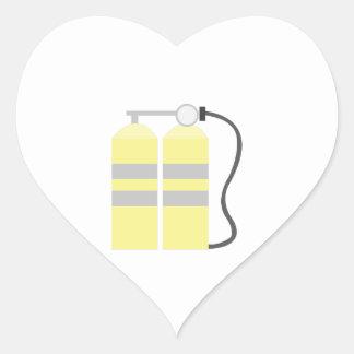 Los tanques del aire pegatina en forma de corazón