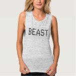 Los tanques femeninos del músculo de Bella Flowy Camiseta De Tirantes Anchos