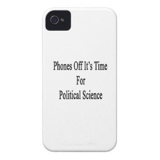 Los teléfonos de él son hora para la ciencia polít iPhone 4 funda