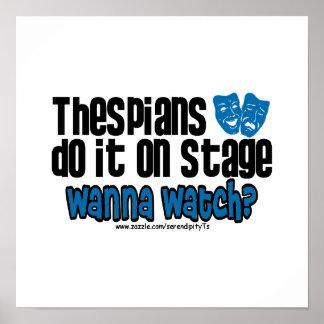 Los Thespians lo hacen en etapa Poster