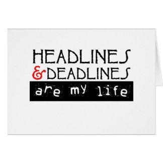 Los títulos y los plazos son mi vida tarjeta de felicitación