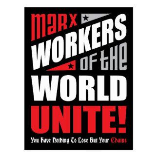 Los trabajadores de Karl Marx del mundo unen Postal