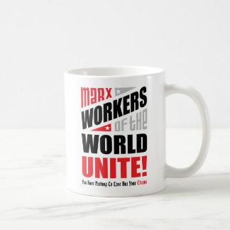 Los trabajadores de Karl Marx del mundo unen Taza De Café