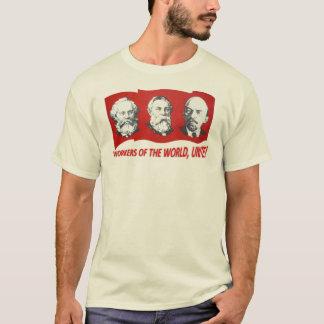 """Los """"trabajadores del mundo, unen!"""" Marx, Engels, Camiseta"""