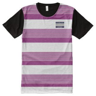 Los trajes de la patria diseñan la camisa púrpura camiseta con estampado integral