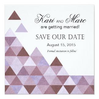 Los triángulos geométricos ahorran el bígaro de la invitación 13,3 cm x 13,3cm