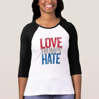 Los triunfos del amor odian la manga larga camiseta