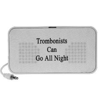 Los trombones pueden ir toda la noche altavoz de viaje