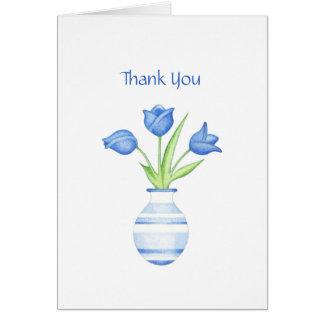 Los tulipanes azules le agradecen cardar felicitaciones
