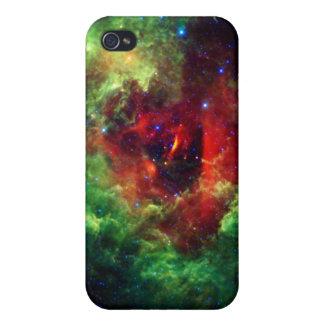 Los unicornios subió la nebulosa del rosetón iPhone 4 protectores