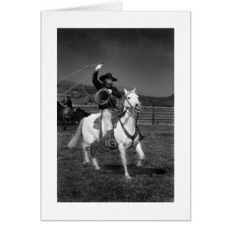 Los vaqueros de las series de Oregon Tarjeta De Felicitación