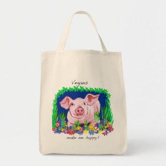 Los veganos me hacen la bolsa de asas feliz del