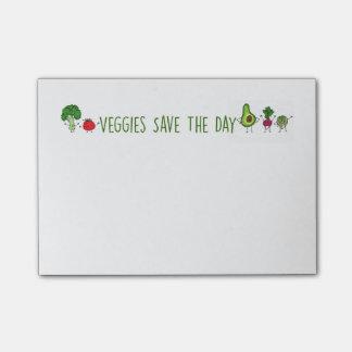 Los Veggies ahorran las notas de post-it del día