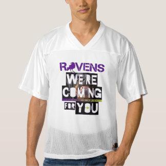 ¡Los vens del 💜 de R están viniendo para usted! Camiseta De Fútbol Americano Para Hombre