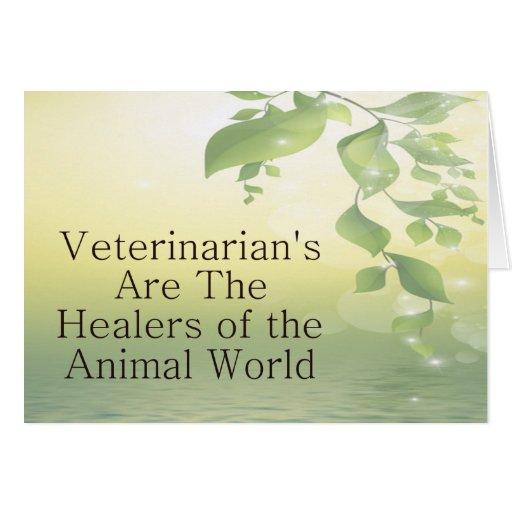 Los veterinarios son curadores tarjeton