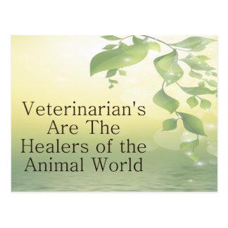 Los veterinarios son curadores postal