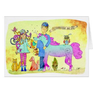 Los veterinarios son frescos tarjeta de felicitación