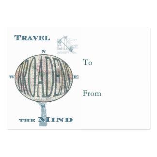 Los viajes forman a la juventud etiqueta del tarjetas de visita grandes