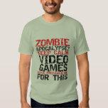 Los videojugadores de la apocalipsis del zombi camisetas