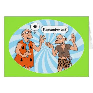 Los viejos amigos recuerdan su cumpleaños tarjeta de felicitación