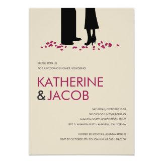 Los votos románticos que casan la ducha invitan invitación 12,7 x 17,8 cm