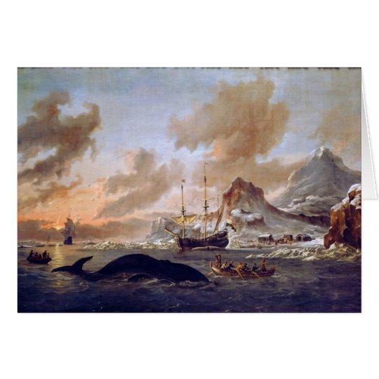 Los Whalers holandeses acercan a Spitsbergen de Tarjeta De Felicitación