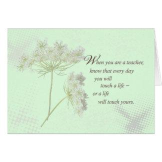 Los Wildflowers del día del aprecio del profesor Tarjeta De Felicitación