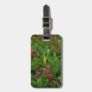 Los Wildflowers del verano envían adelante un Etiqueta De Equipaje