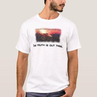 los x-ficheros la verdad están hacia fuera allí camiseta
