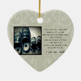 Los zapatos del papá ornamento para arbol de navidad
