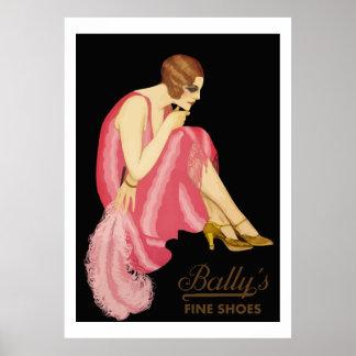 Los zapatos finos de Bally Póster
