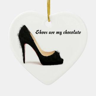 Los zapatos son mi chocolate ornamento para reyes magos