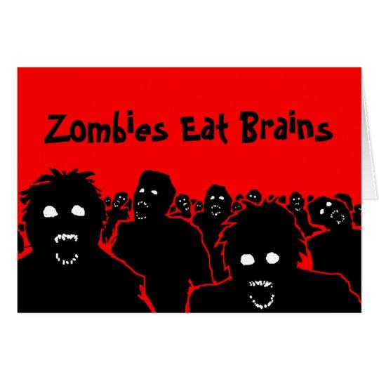 Los zombis comen la tarjeta de felicitación de los