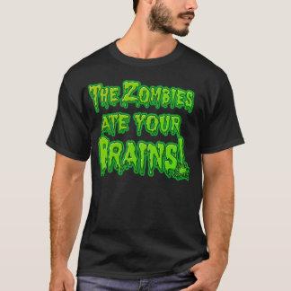 Los zombis comieron su camiseta de los cerebros