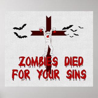 Los zombis murieron por sus pecados impresiones