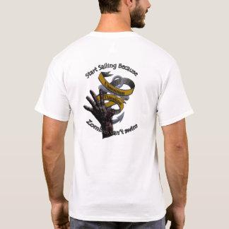 Los zombis no pueden nadar la camiseta